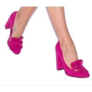 Shoe Dazzle Fuschia Dellena Pumps